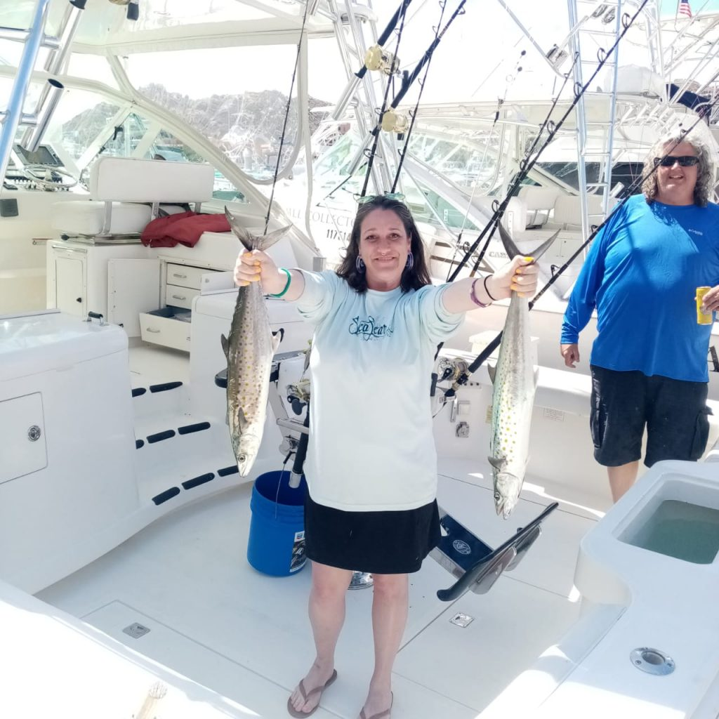 Happy anglers with their catch aboard Picante Pride