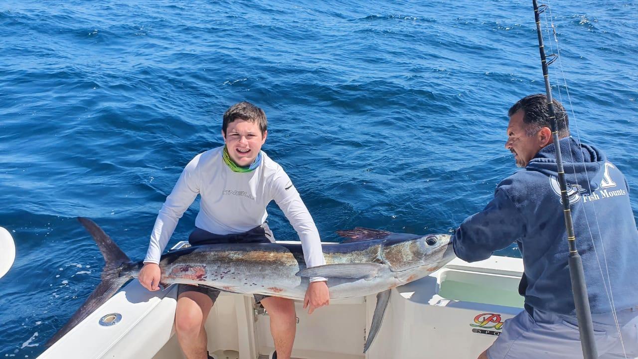 Striped marlin aboard the Picante Pride