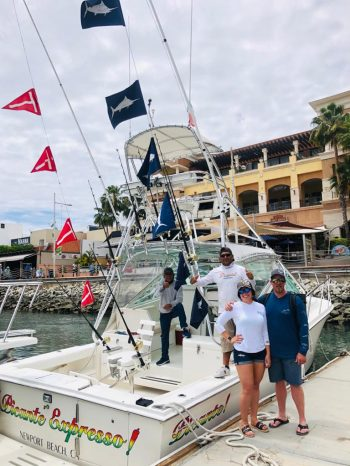 April fishing flags, the blue ones are from Marlin and the red ones mean Marlin or Billfish released